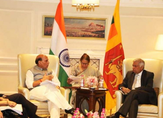 Rajnath Singh meets Sri Lankan PM