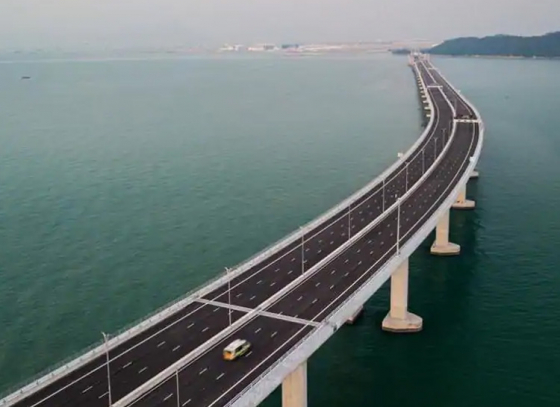 World's longest sea bridge inaugurated in China