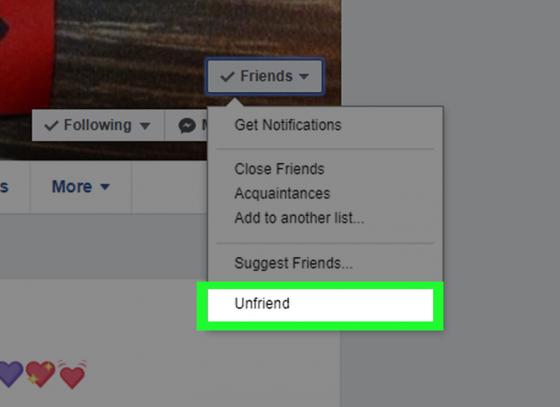 Make a 'unfriend' list