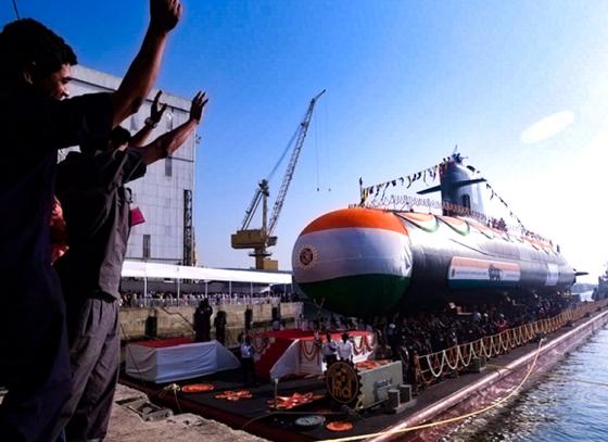 India launches new submarine