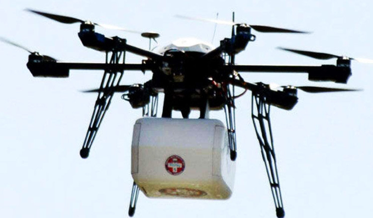 Unmanned drone transports blood from remote village to hospital