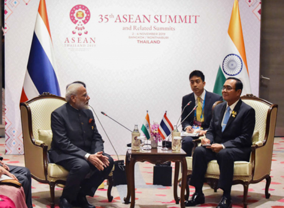 PM Modi holds bilateral meet at the 35th India-ASEAN summit