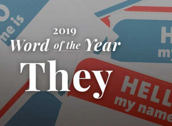 Merriam Webster names 'They' as its Word of the Year for 2019