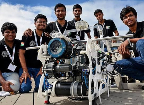 Unique AUV developed by engineering students
