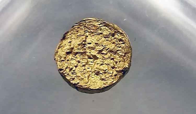 Scientists create super-lightweight gold nugget