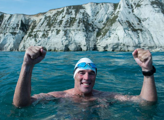 Lewis Pugh: first person to swim under the Antarctic ice sheet