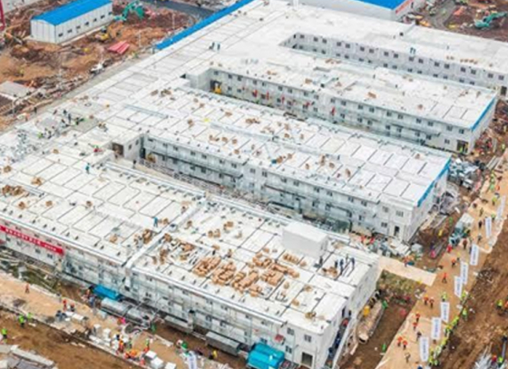 China builds makeshift hospital in 10 days